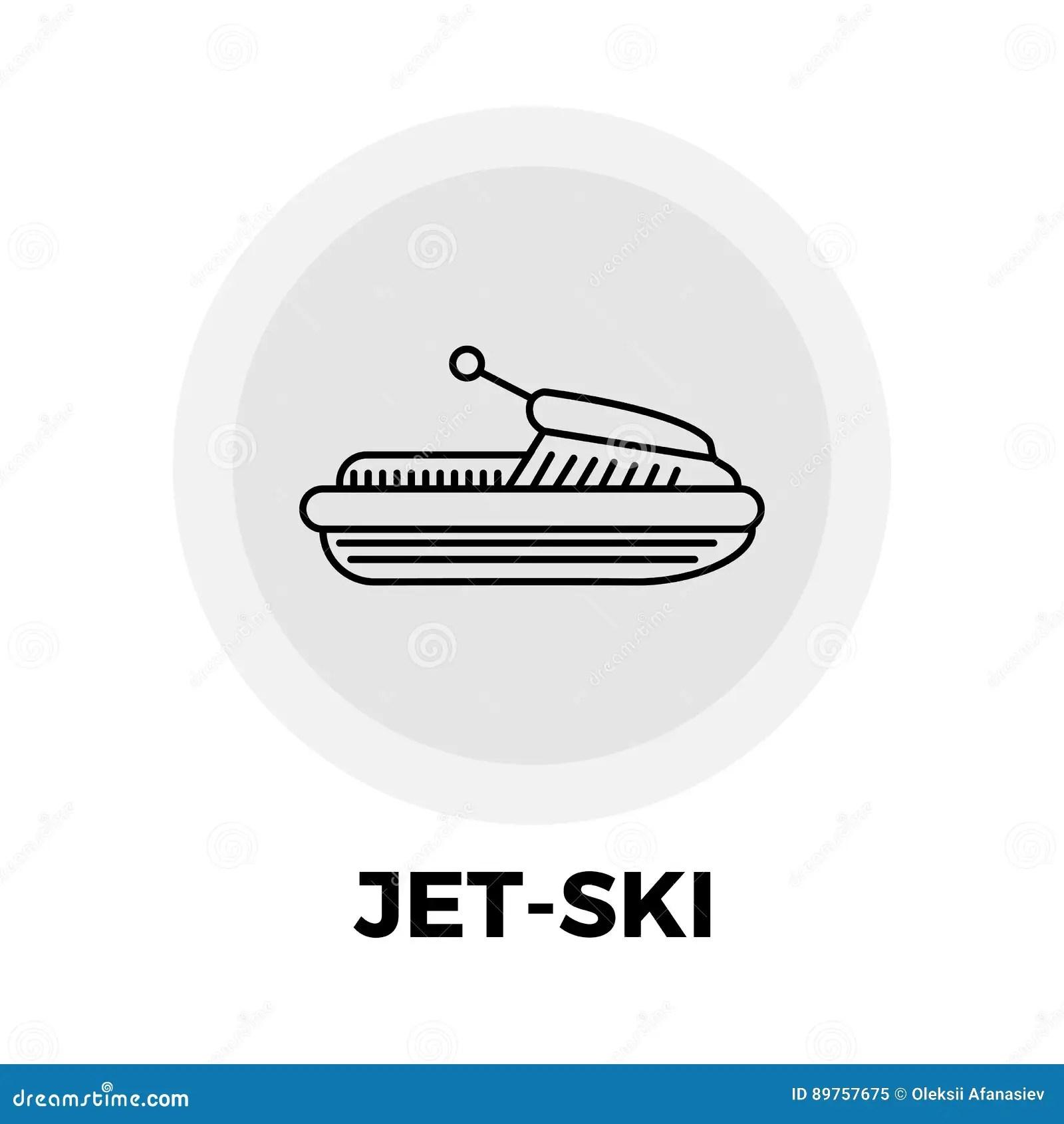 Jet-Ski Line Icon stock vector. Illustration of outline