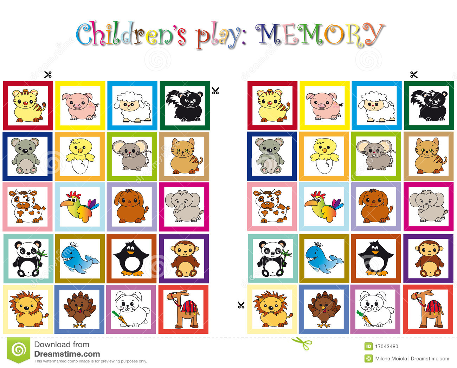 Jeu Pour Des Enfants Illustration Stock Illustration Du