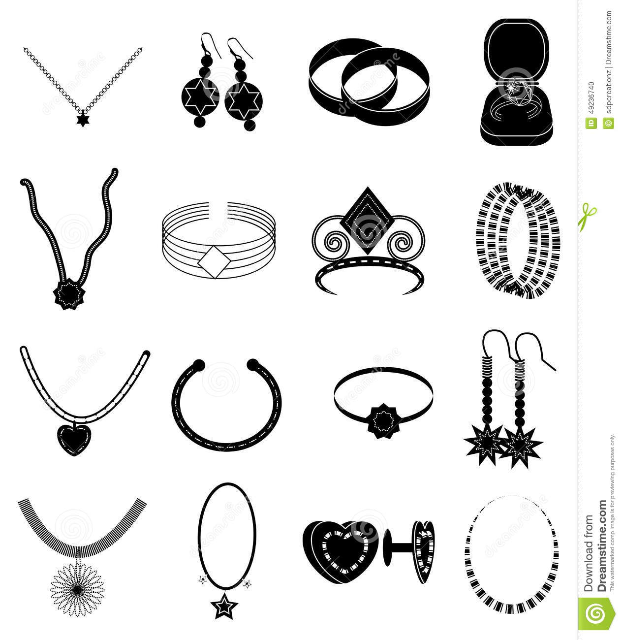 Jewellery Icons Set Stock Vector Illustration Of Elegance