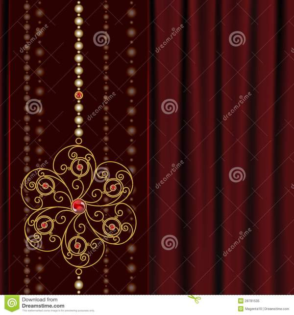 Red Background with Gold Jewelry