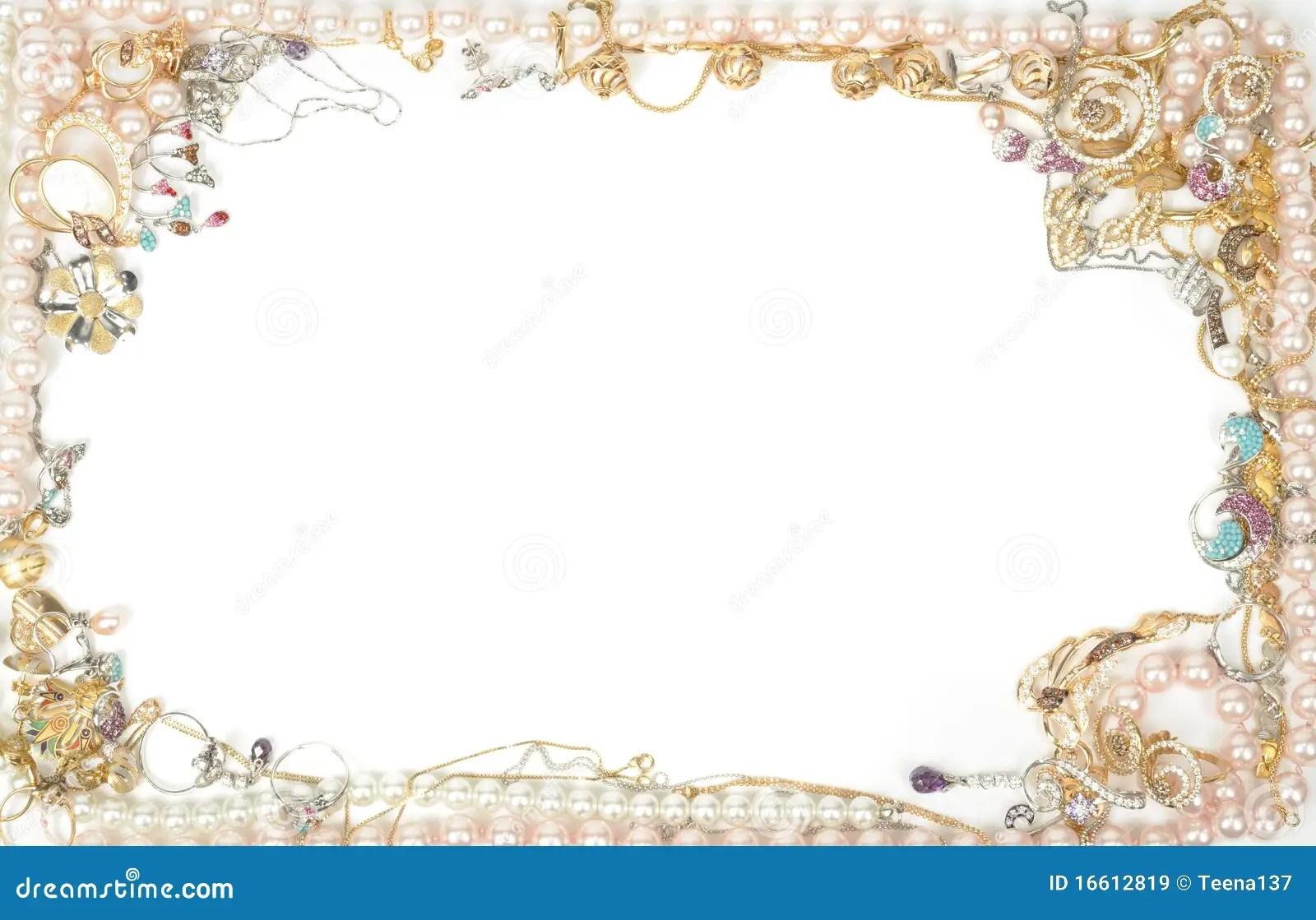 Jewelry Border Stock Image Image Of Shape Jewel Ritch