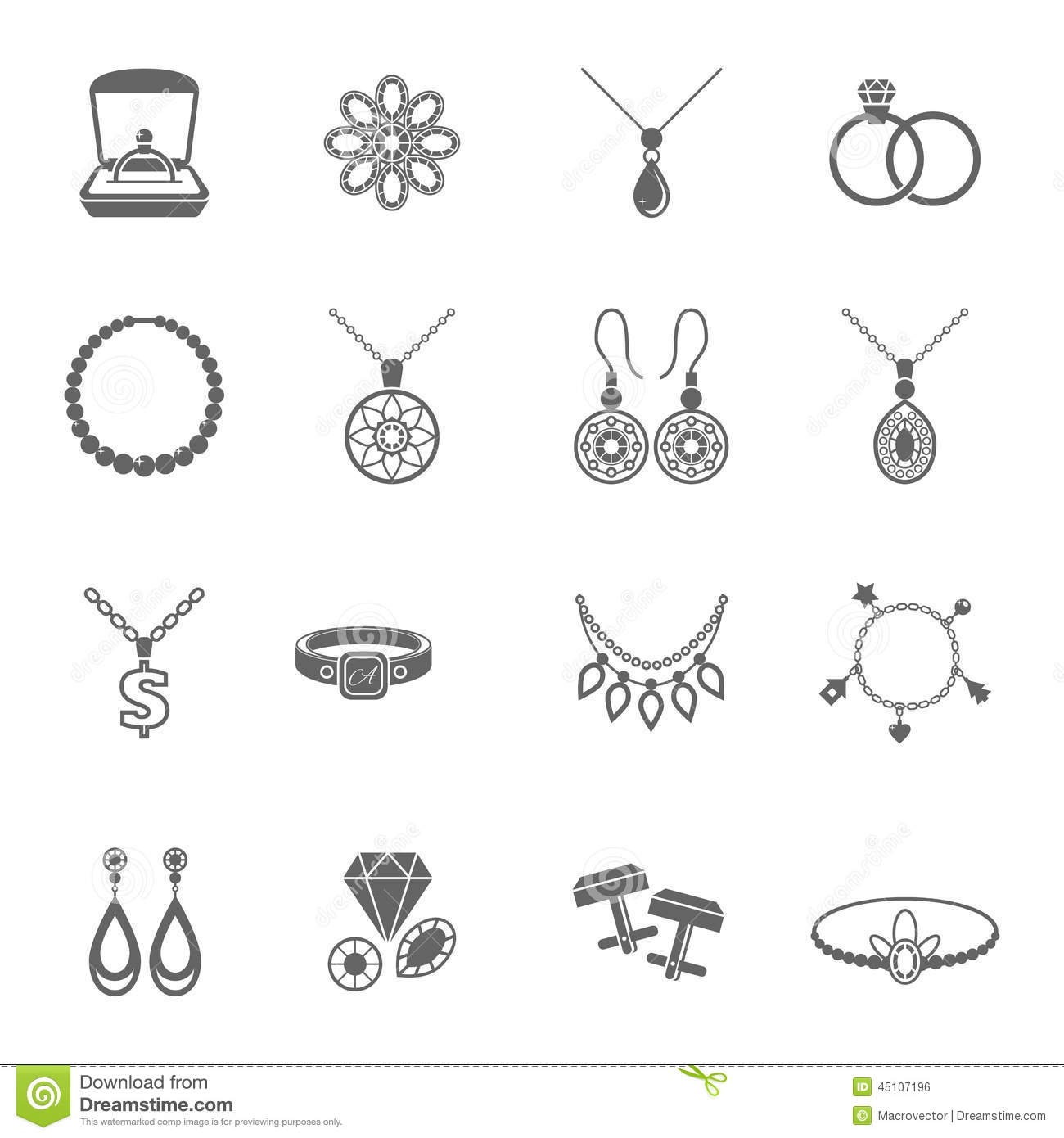 Jewelry Icon Black Stock Vector Illustration Of