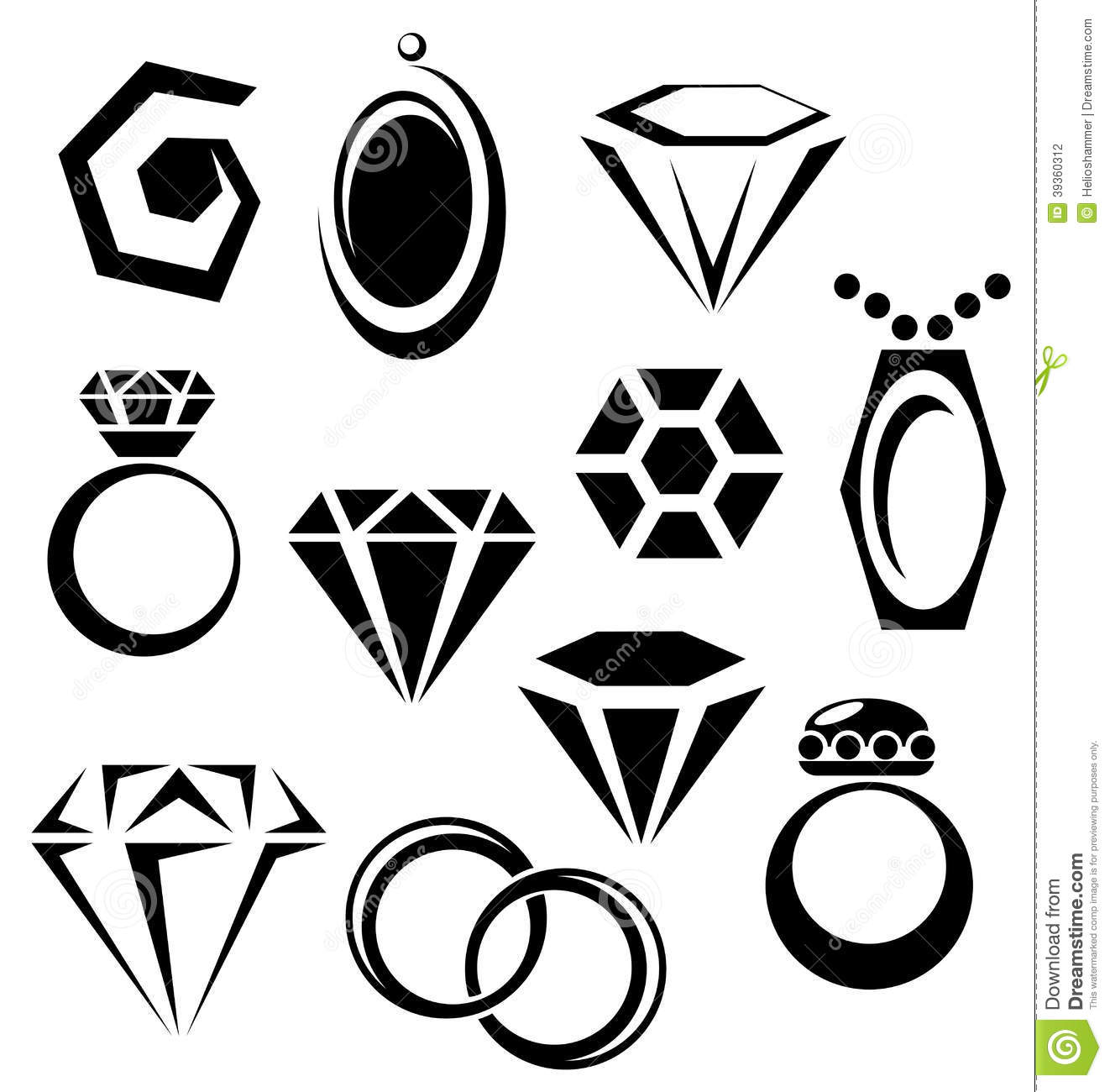 Jewelry Icon Set Stock Vector Illustration Of Gold