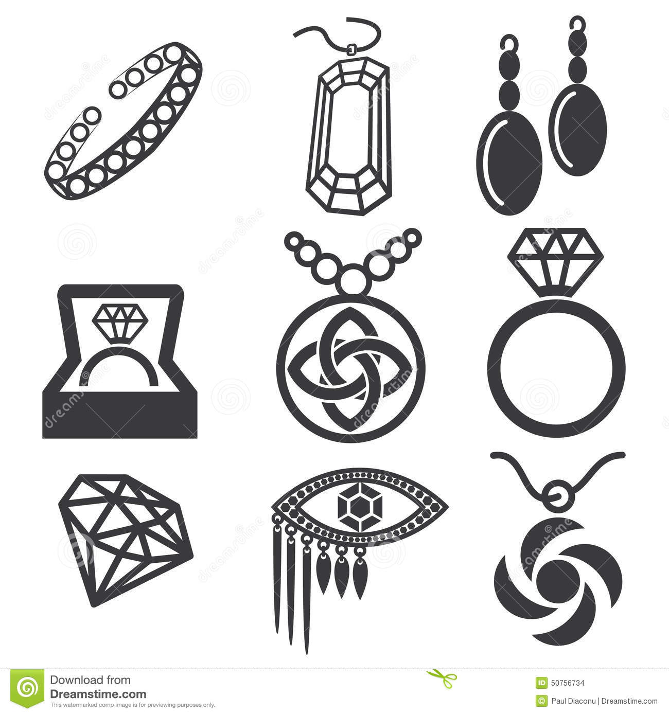 Jewelry Mark Set Stock Vector Illustration Of Shapes