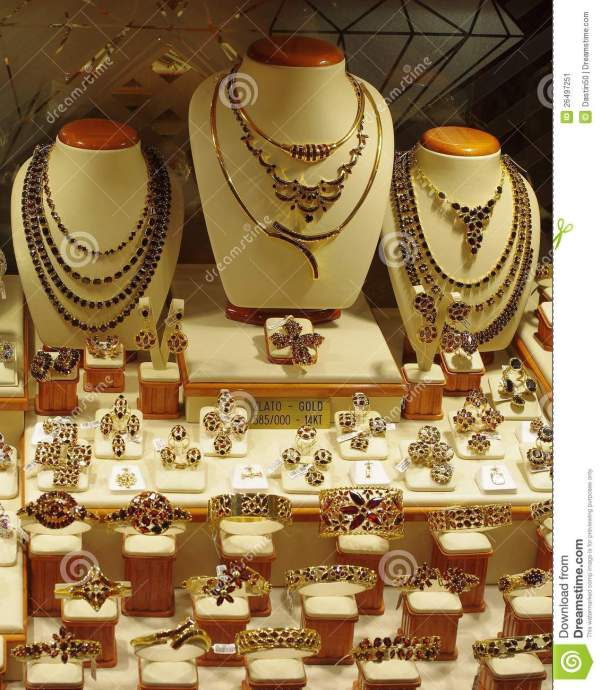 Jewelry Store Display Stock Of 14kt