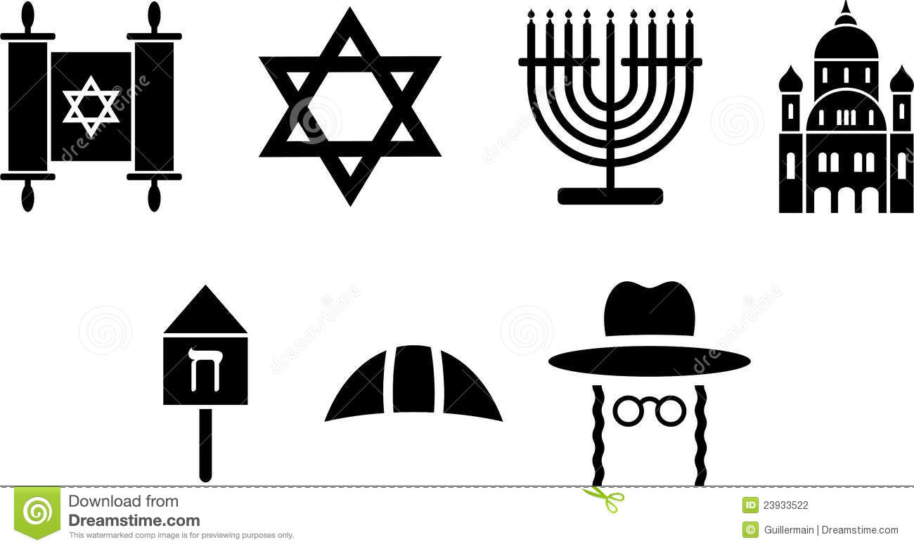 Jewish Icons Stock Vector Illustration Of Religion Star