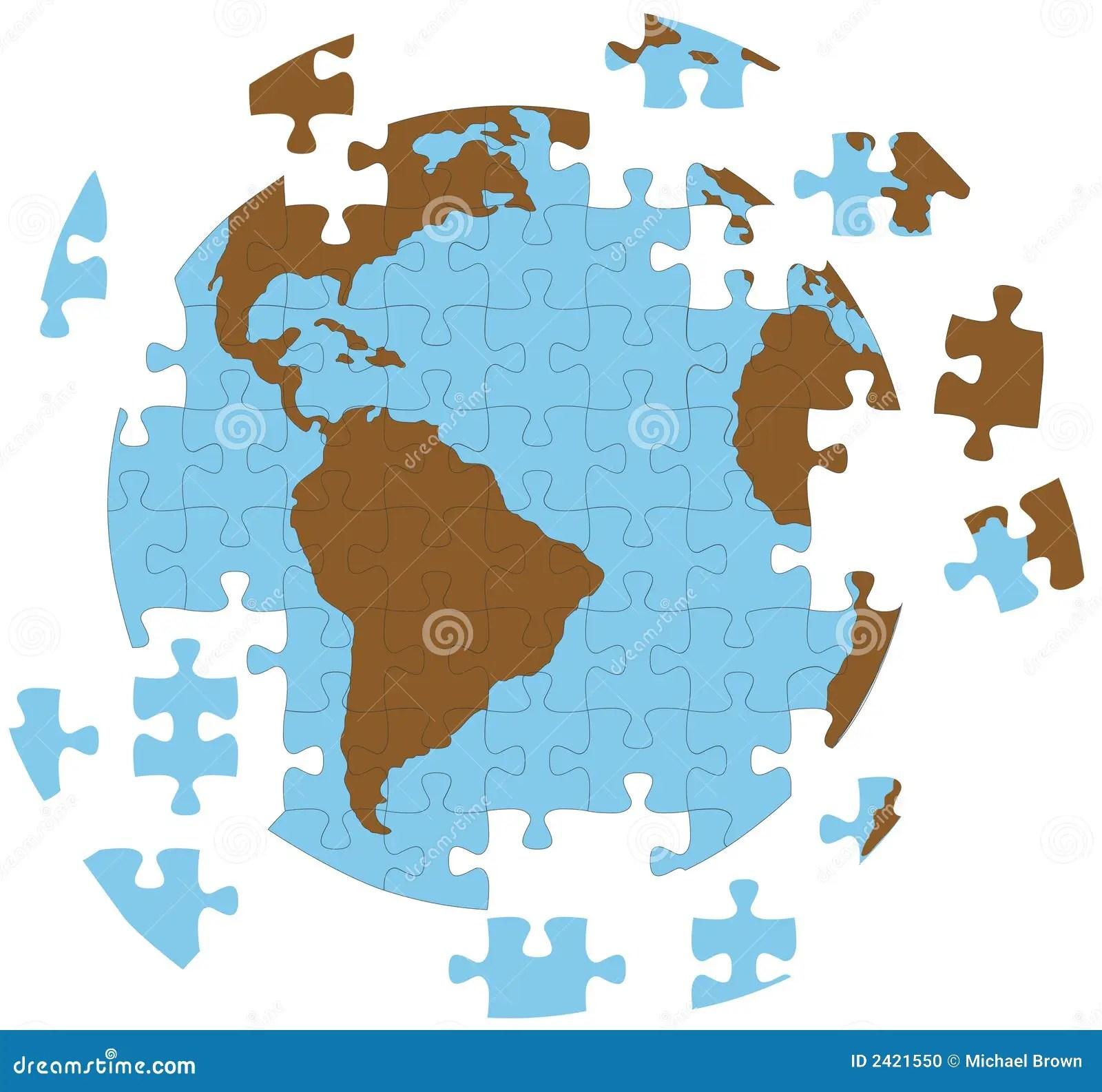Jigsaw Puzzle Earth Globe