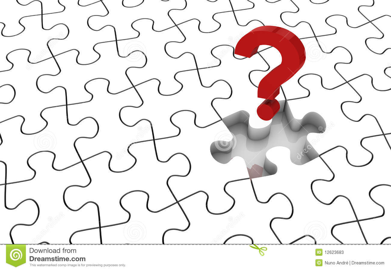 Last Missing Puzzle Piece Stock Photography