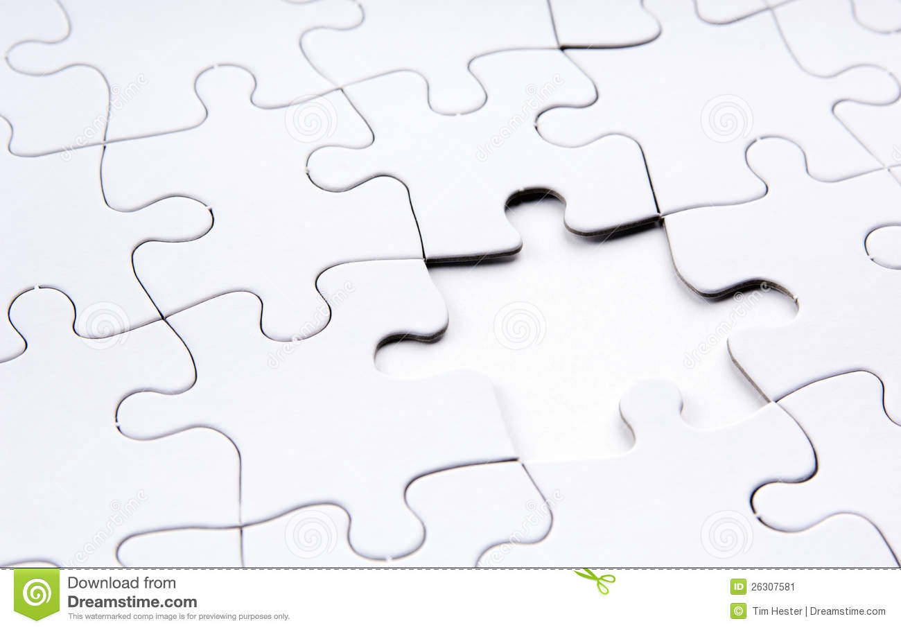 Jigsaw Puzzle Missing Piece Stock Image