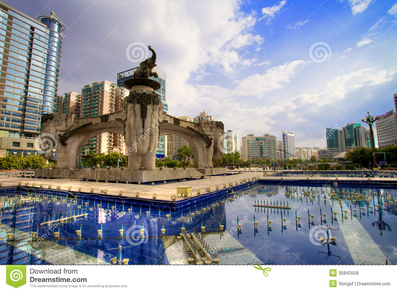 Jinhu Square In Nanning China Editorial Stock Photo