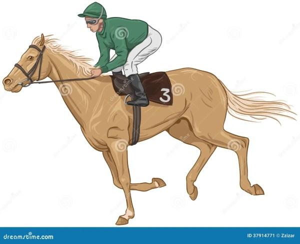 Jockey On Horse Clip Art