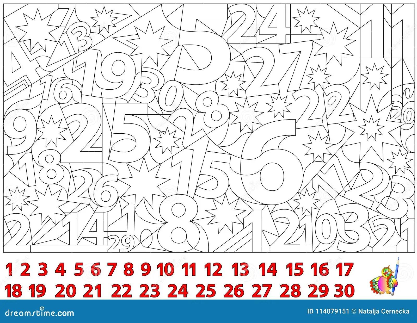 Jogo Do Enigma Da Logica Encontre Os Numeros Escondidos Na