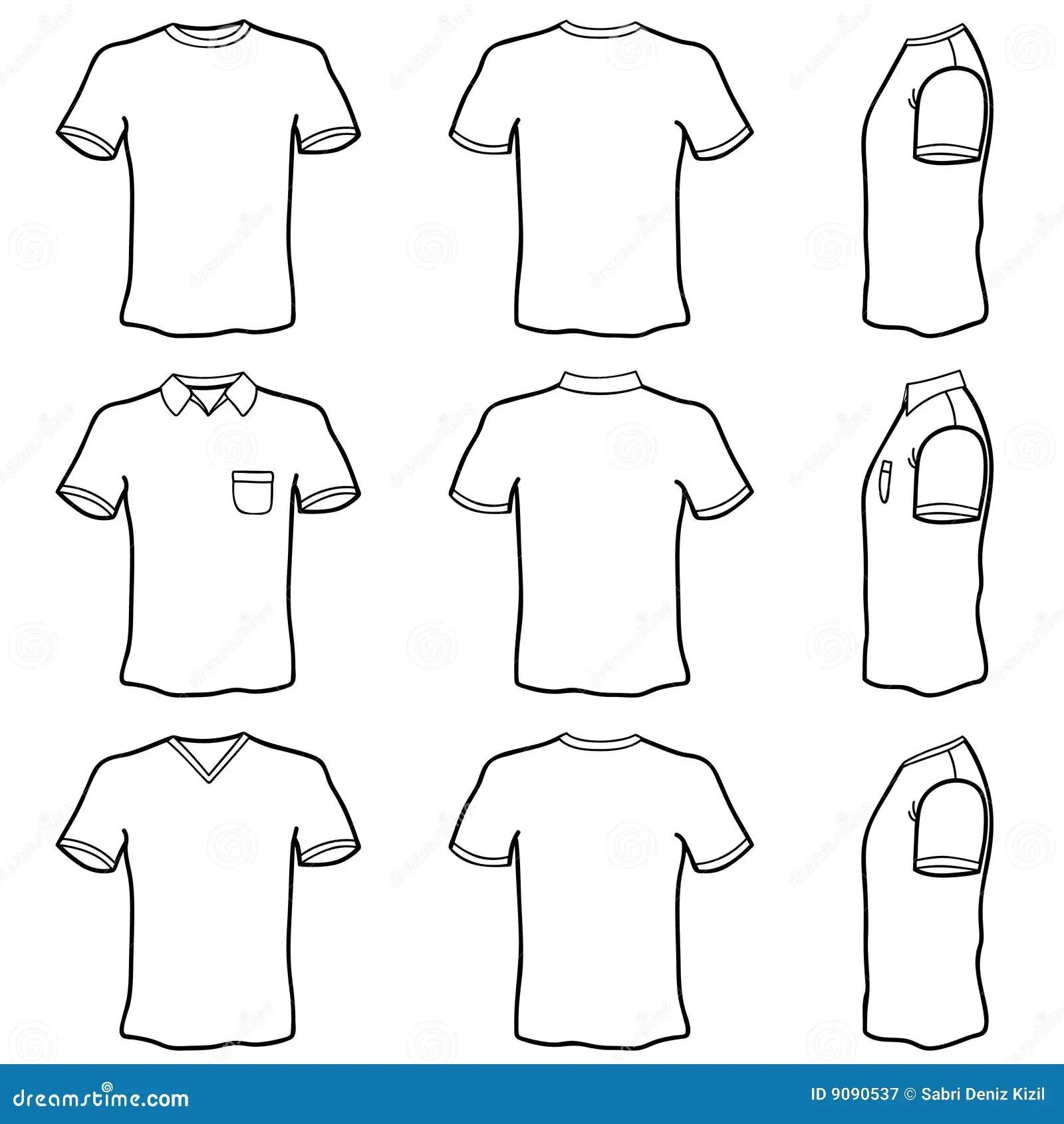 Jogo Do Molde Da Camisa De T Ilustracao Do Vetor