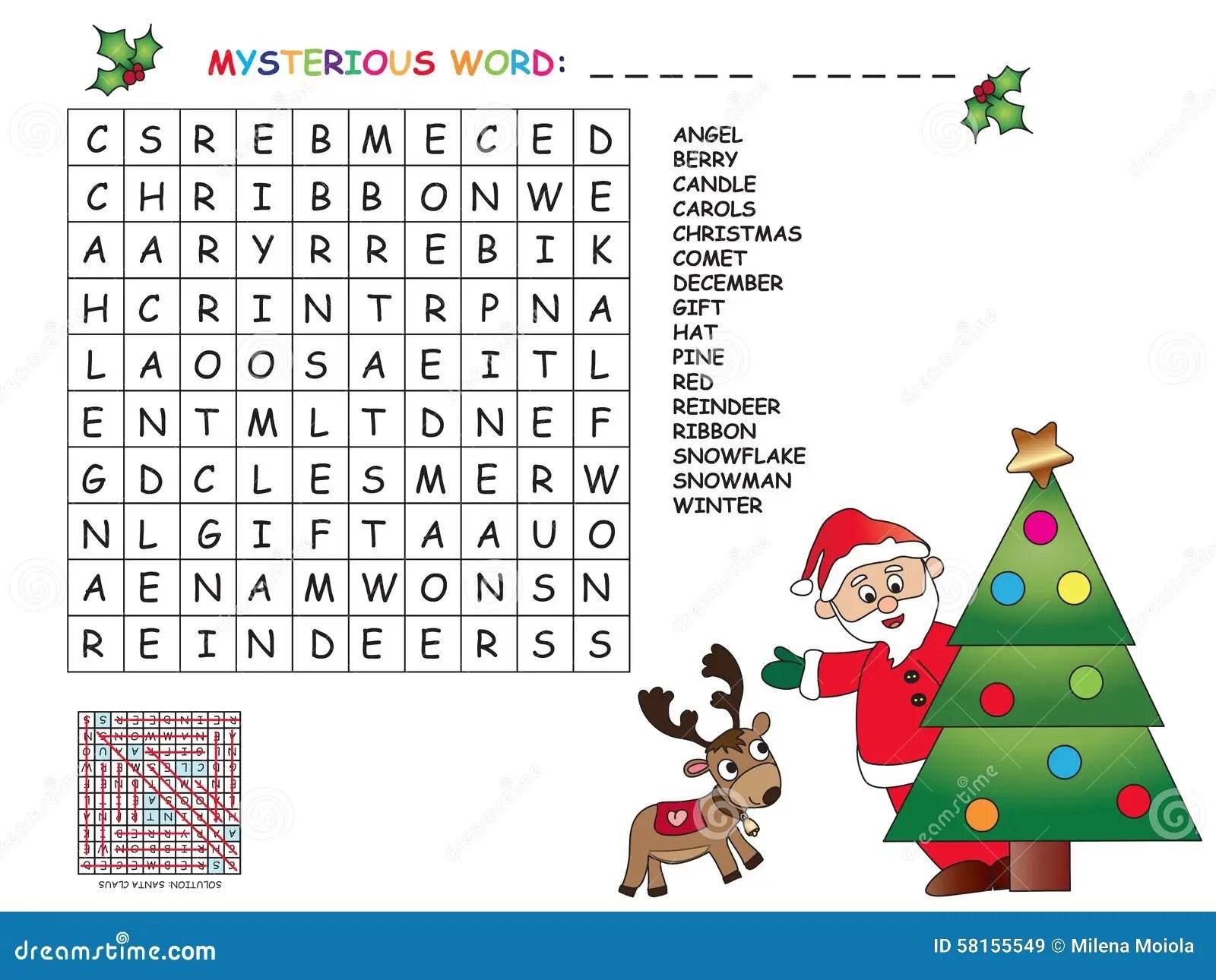 Jogo Para Criancas Para O Natal Ilustracao Stock