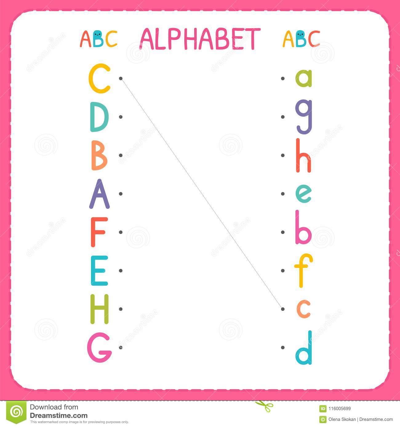 Worksheet For The Letter H
