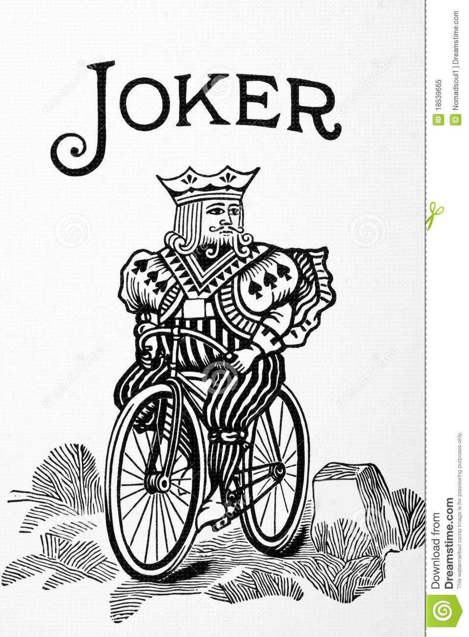 Joker card stock image Image of large chance picture