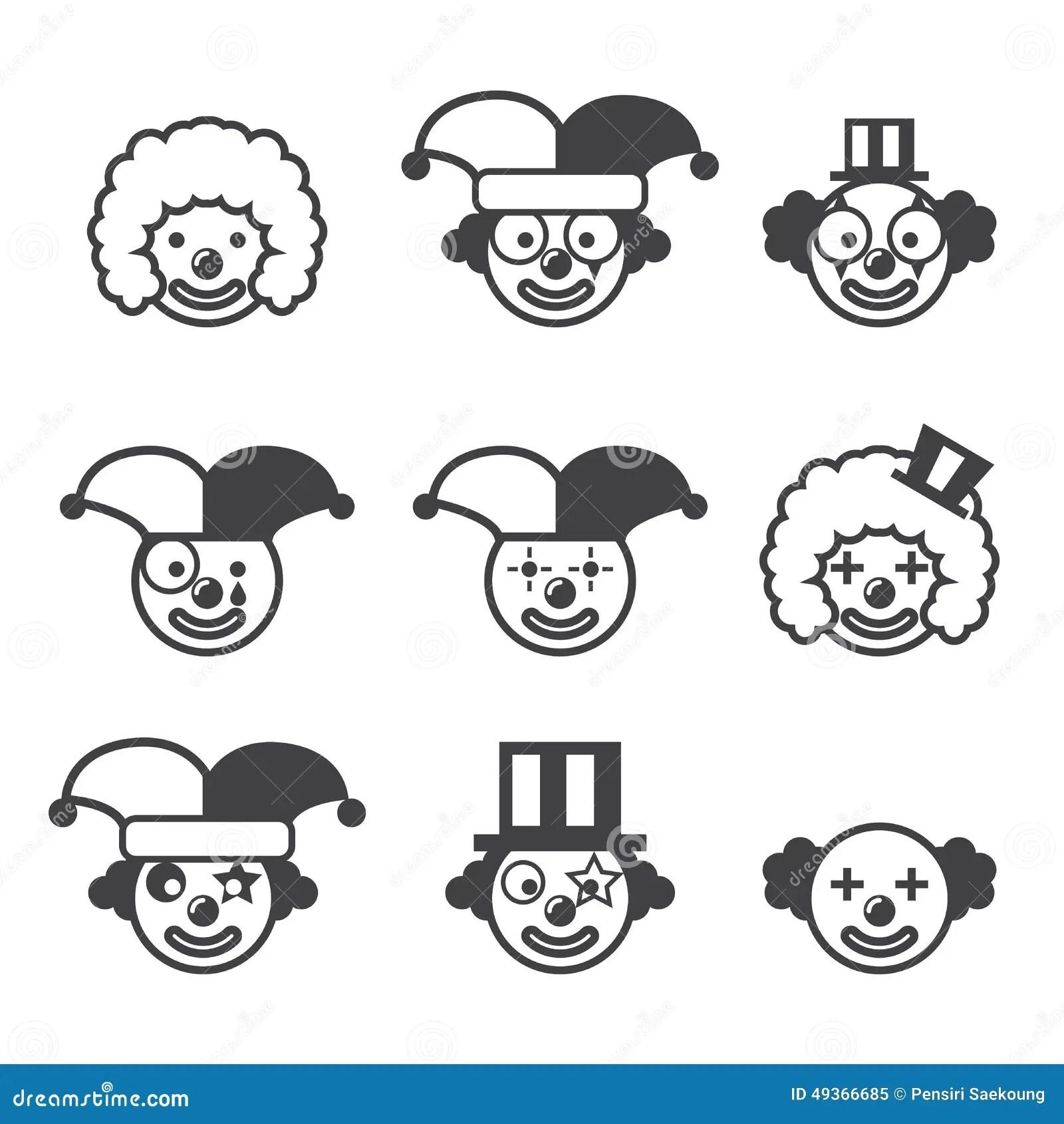 Joker Icon Stock Vector Illustration Of Business