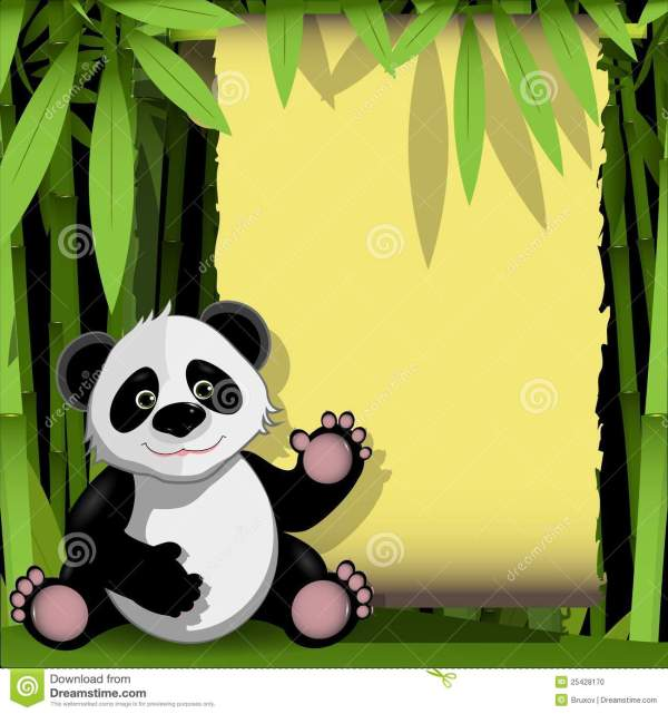Jolly Panda In Bamboo Forest Stock - 25428170