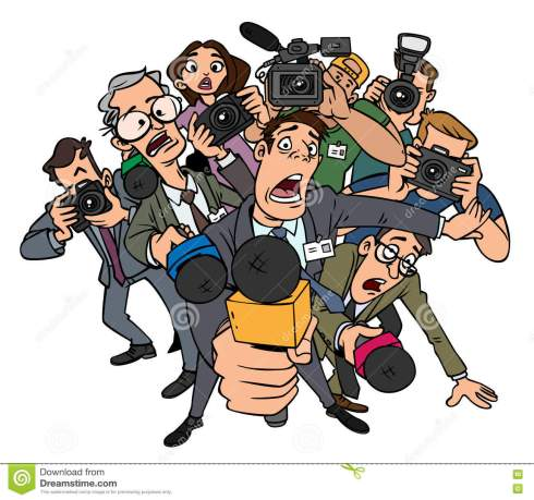 Image result for images of crowd of reporters