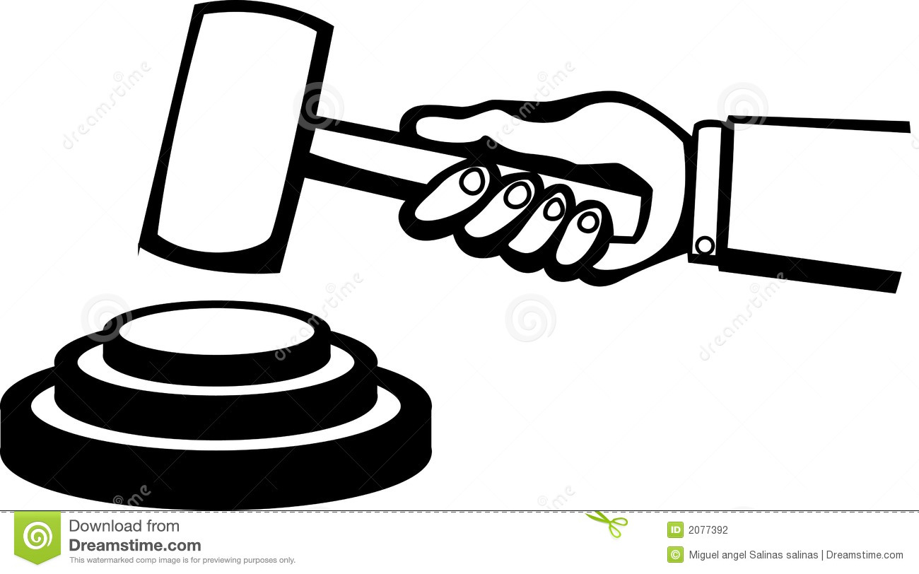 Judge Or Auction Hammer Vector Illustration Stock Vector