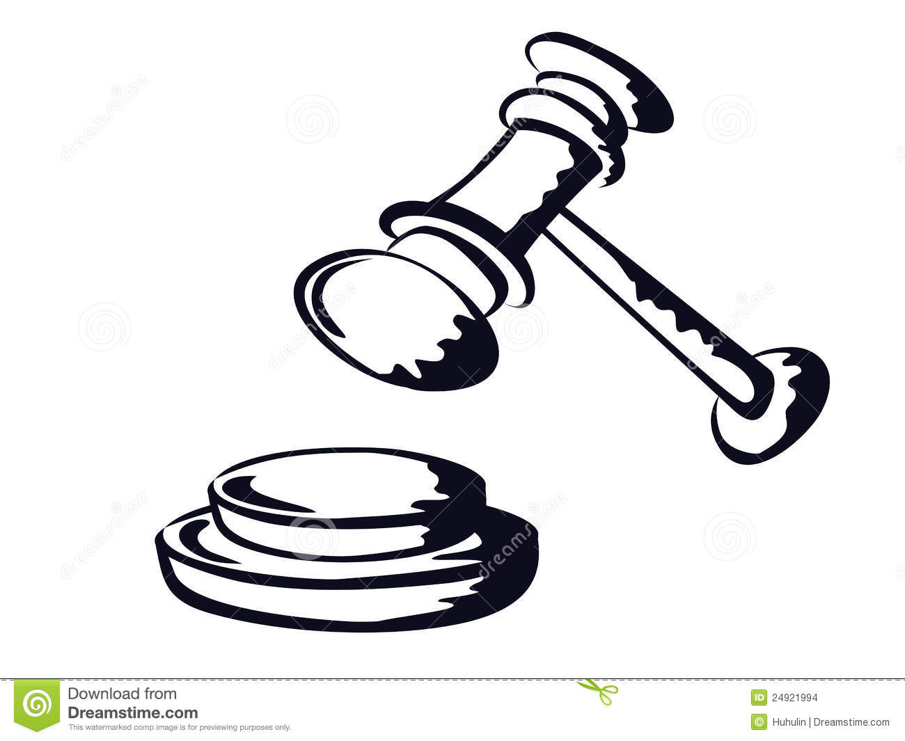 Judge Gavel Sketch Shape Vector From Stock Images