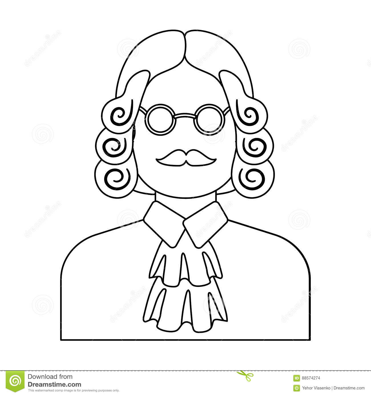 A Judge In A Wig And Glasses A Person Who Makes A Verdict