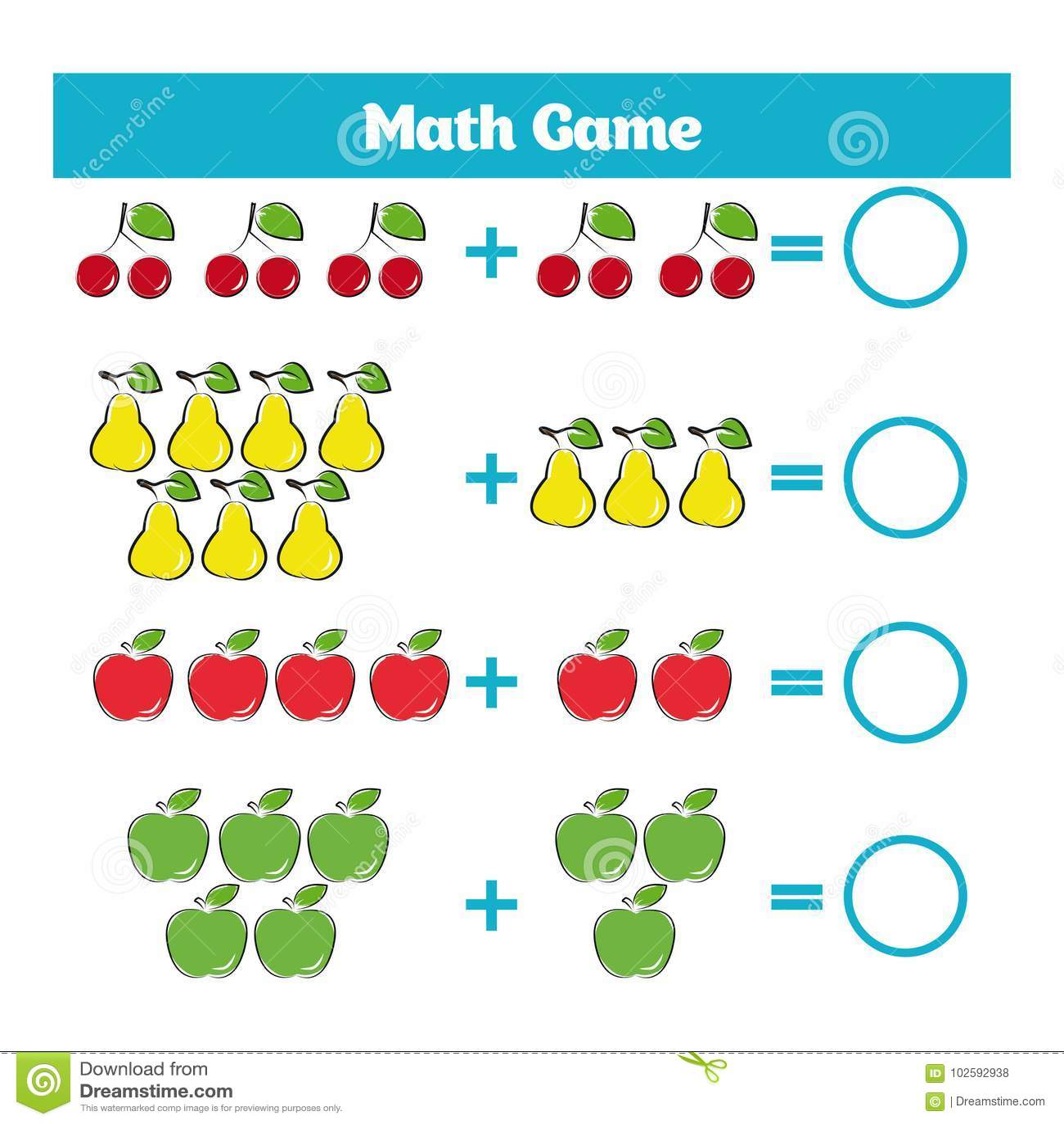 Juego Educativo De Las Matematicas Para Los Ninos