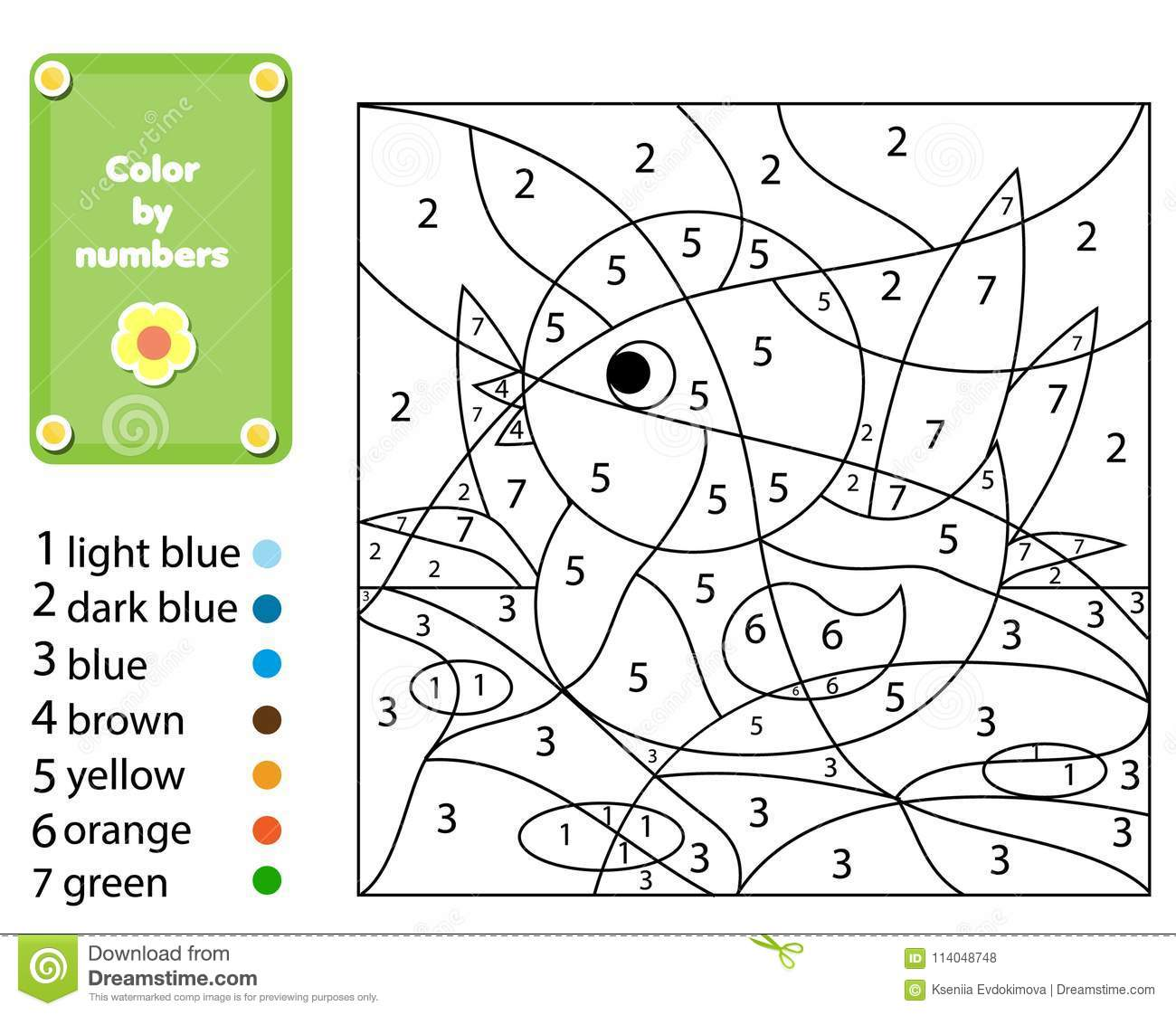 Number Coloring Juego