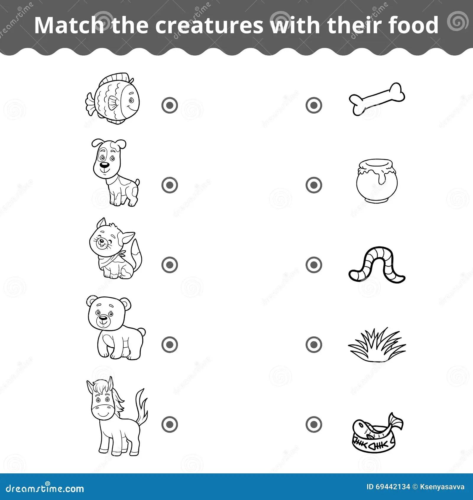 Juego A Juego Para Los Ninos Los Animales Y La Comida