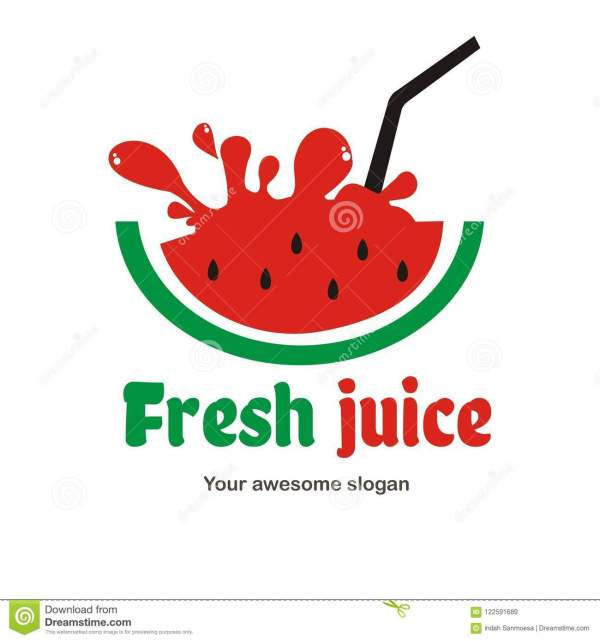 Juice Logo Design Stock Illustration. Illustration Of