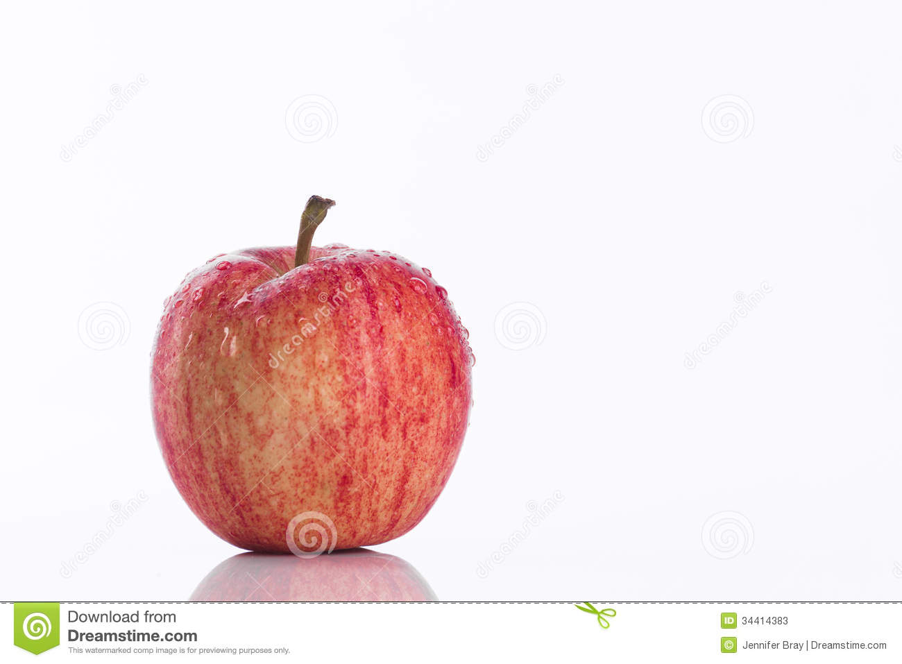 juicy red apple white background promoting healthy eating lifestyle choices 34414383