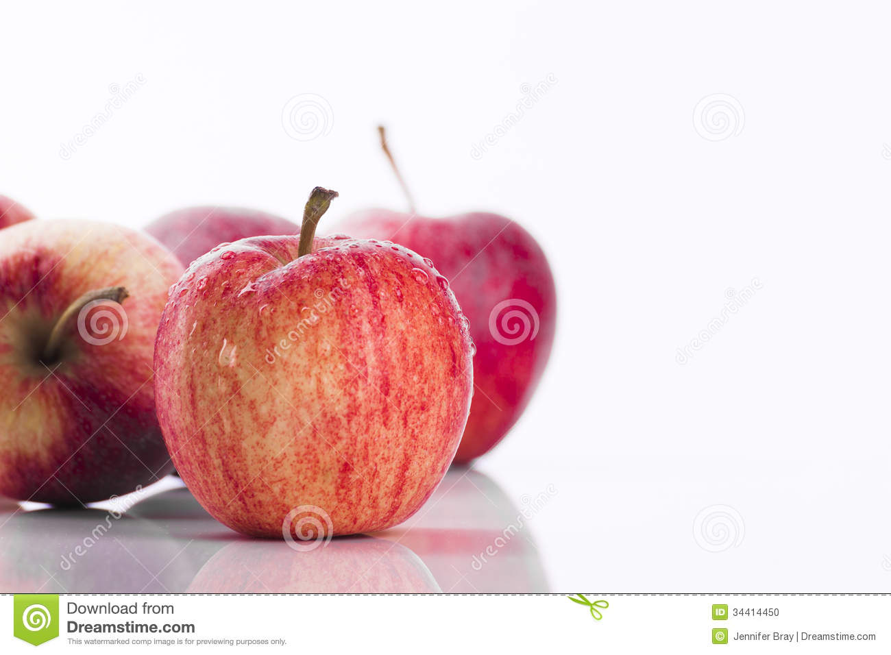 juicy red apples white background promoting healthy eating lifestyle choices 34414450