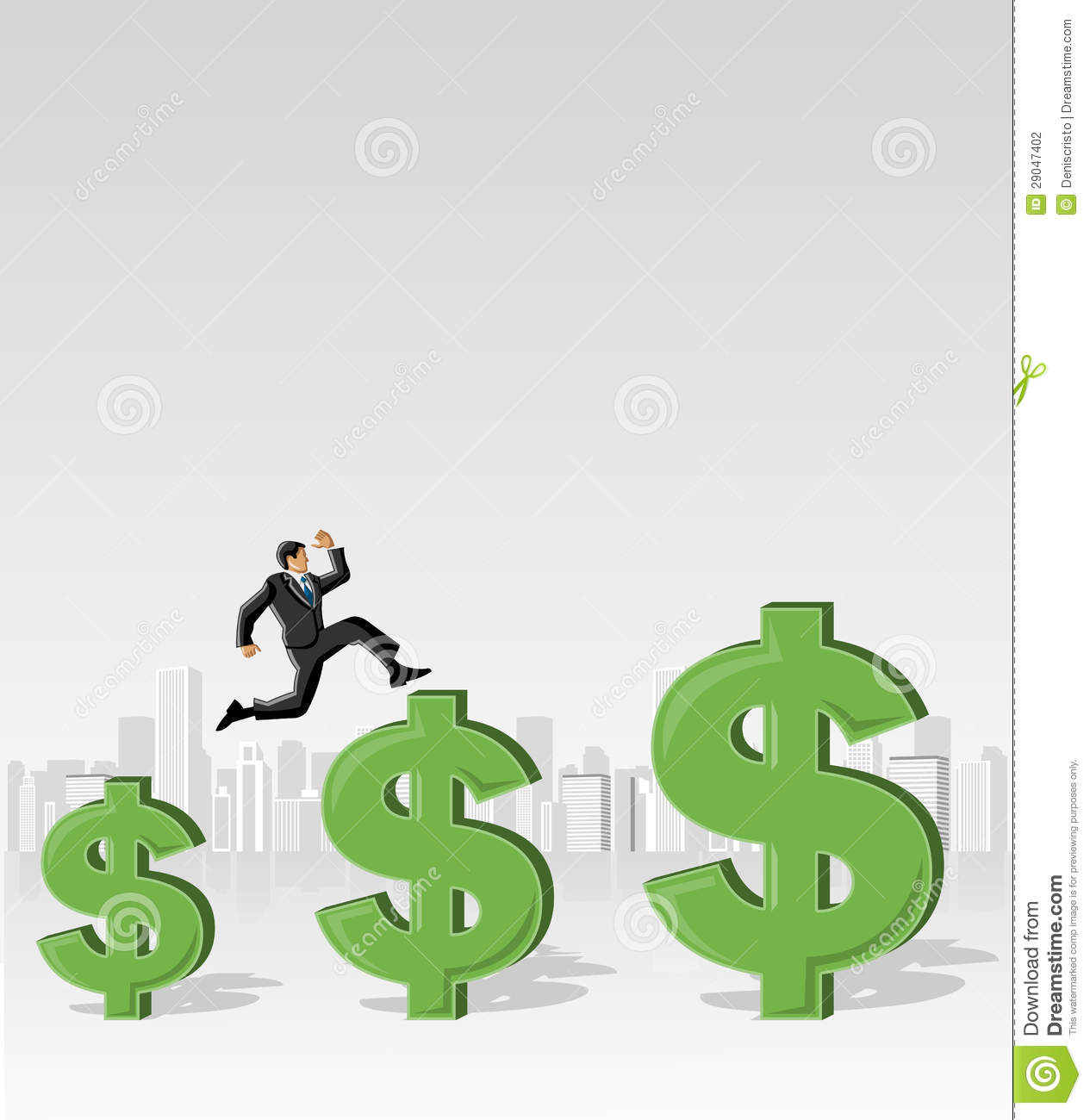 Jumping Over Money Symbols Stock Photography  Image 29047402