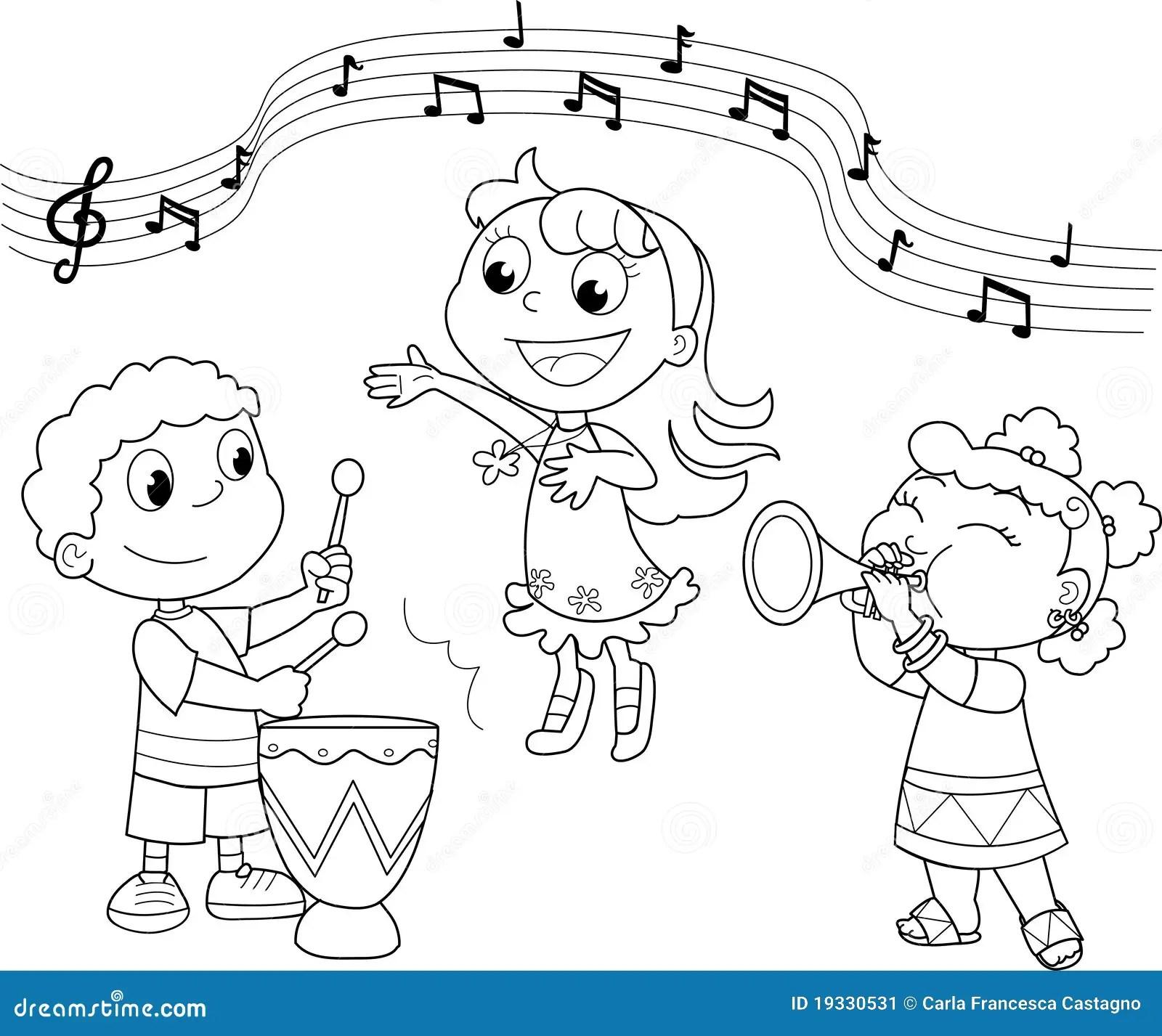 Junges Musikband Vektor Abbildung Illustration Von