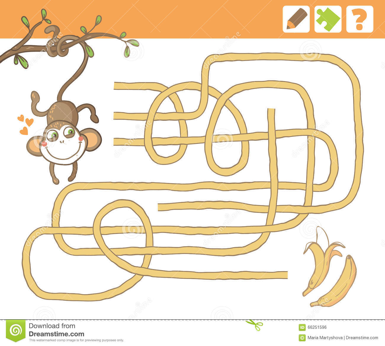Jungle Education Counting Game For Children Stock Vector