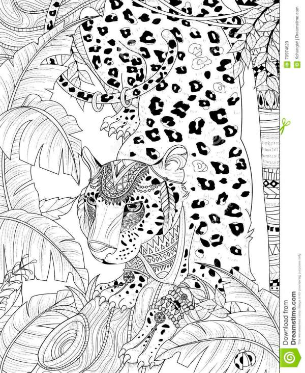 jungle coloring page # 89