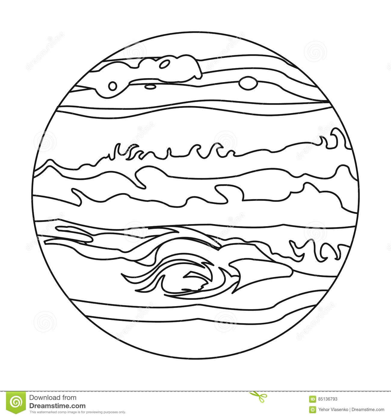 Abstract Planet Earth Icon Isolated On White Background