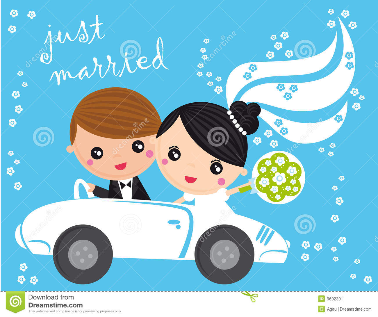 Just Married Stock Vector Illustration Of Woman Married