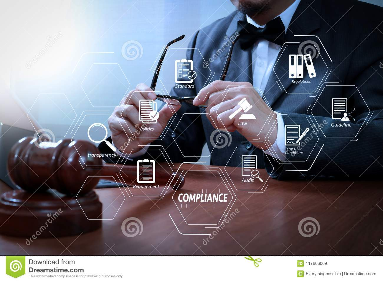 hight resolution of male judge in a courtroom with the gavel