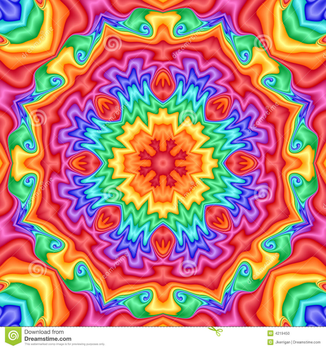 Kaleidoscope Stock Illustration Image Of Digital Blue
