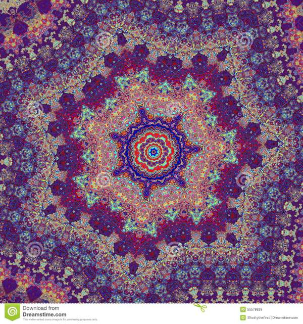 Kaleidoscopic Art Illustration. Artsy Psychedelic Pattern Design. Concept. Detail