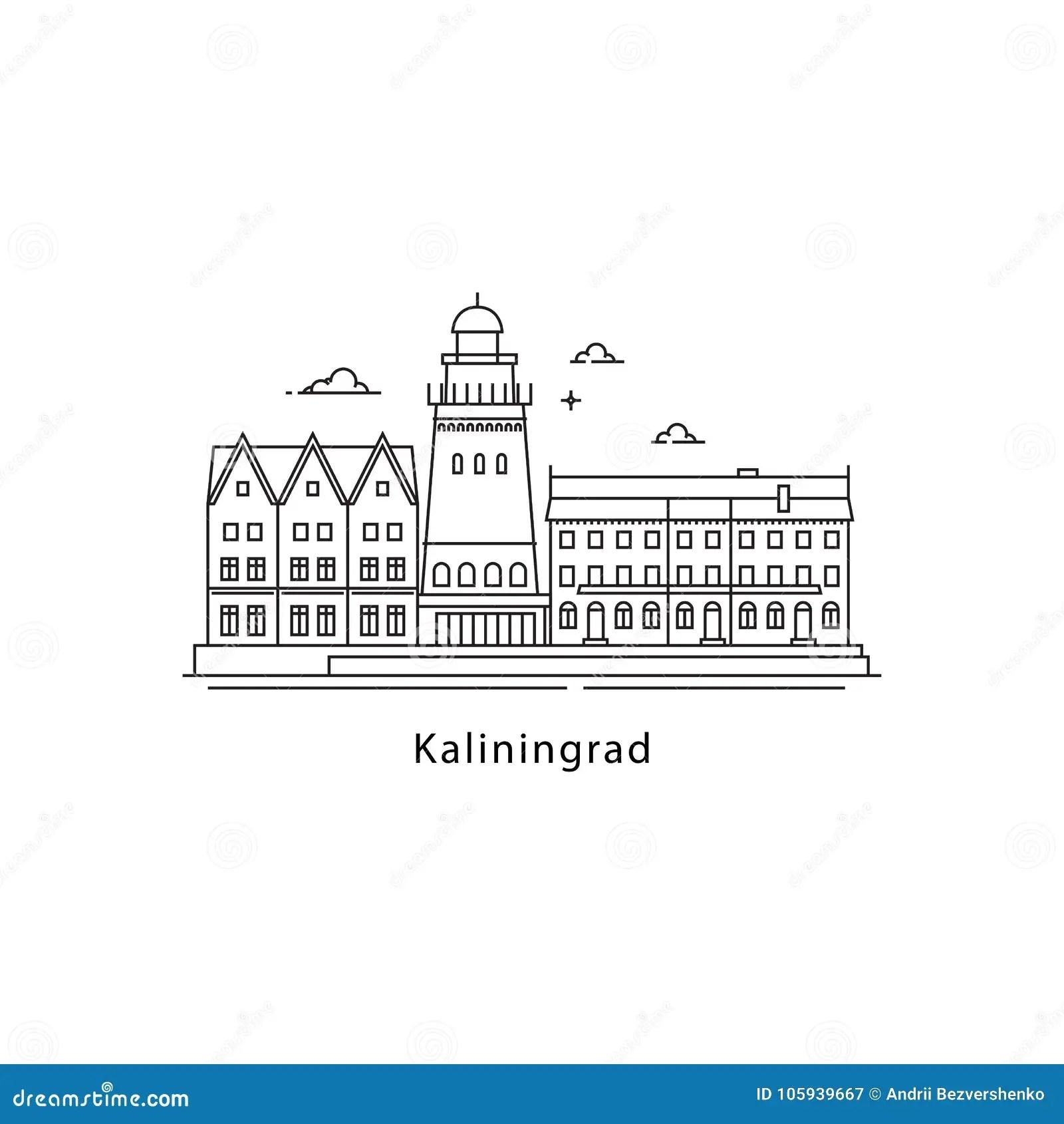 Kaliningrad Logo Isolated On White Background. Kaliningrad