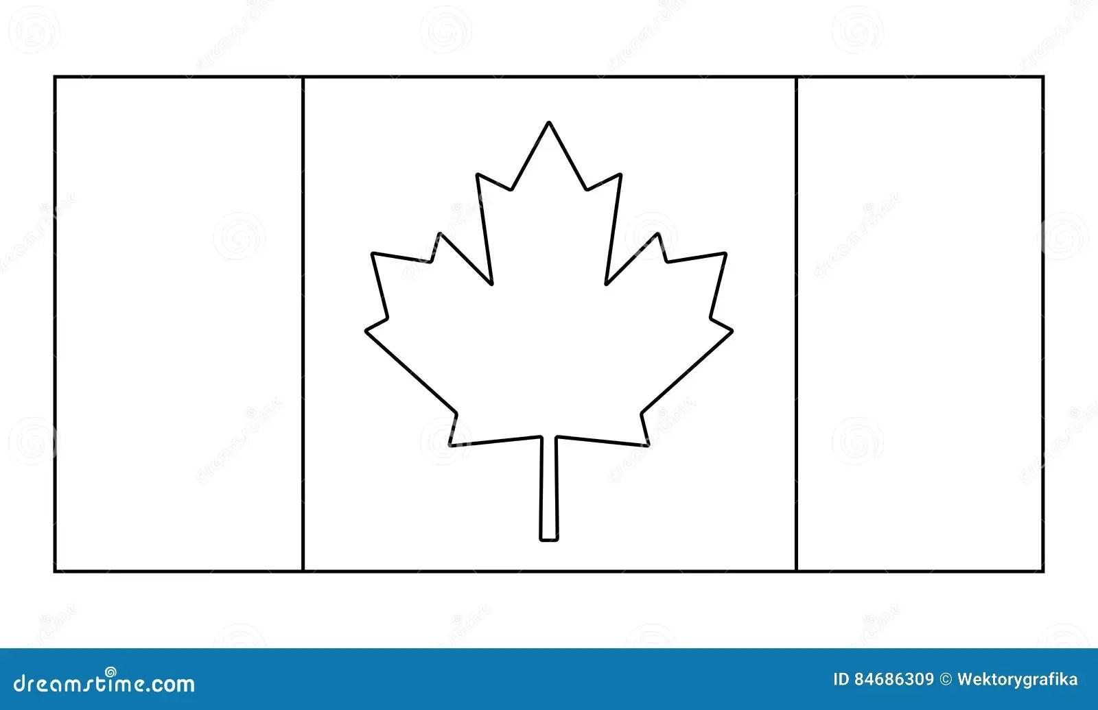 Kanada Flaga Konturu Symbolu Ikony Wektorowy Projekt