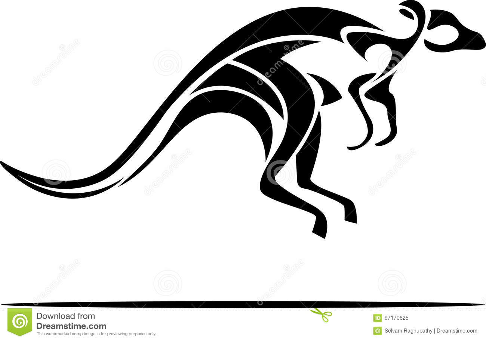 Kangaroo Abstract Stock Vector Illustration Of Clip