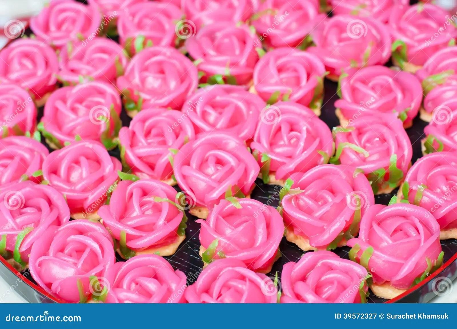 Cute Dessert Wallpaper Kanom Gulap Chawwang Applied Thai Dessert Stock Image
