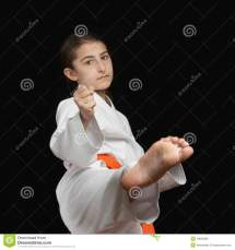 Karate Girl Kick Feet