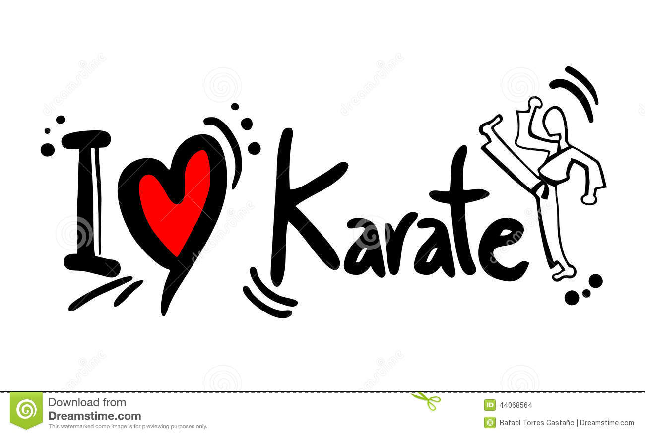 Karate Love Stock Vector Image Of Fashion Females