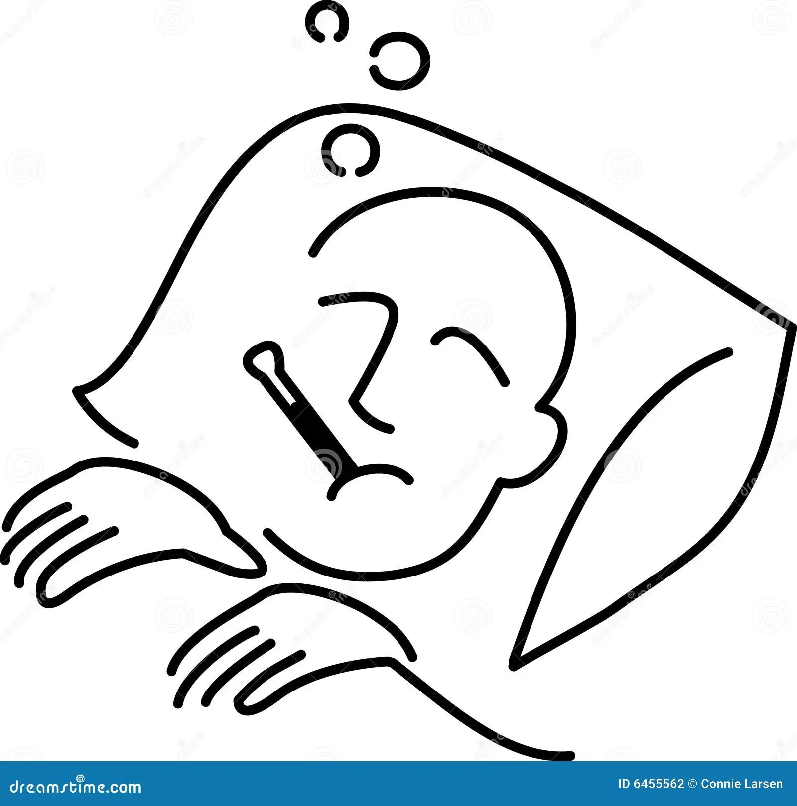 Man Sick Bed
