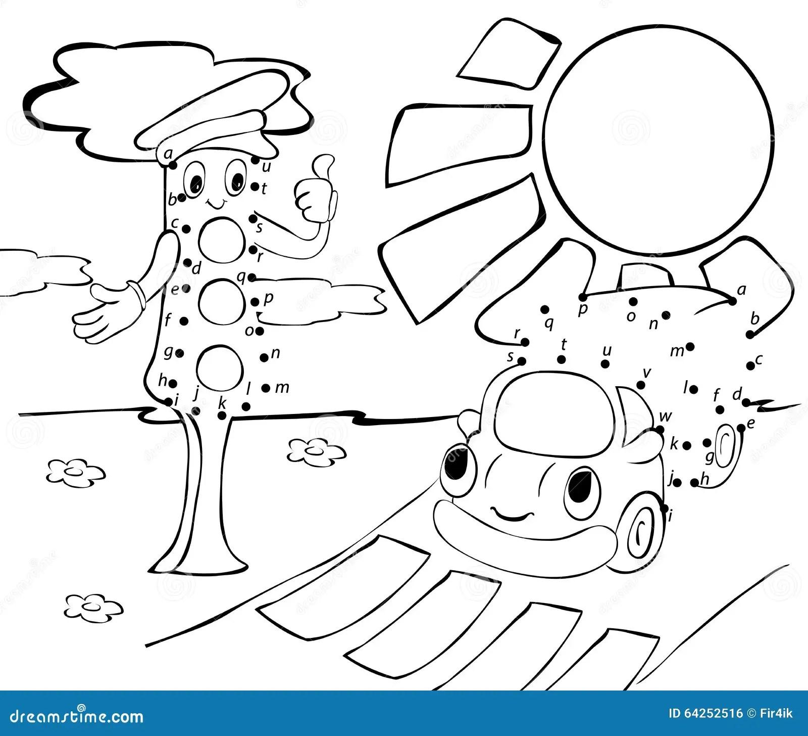 Karikaturlastwagen Ampeln Und Sonne Auch Im Corel