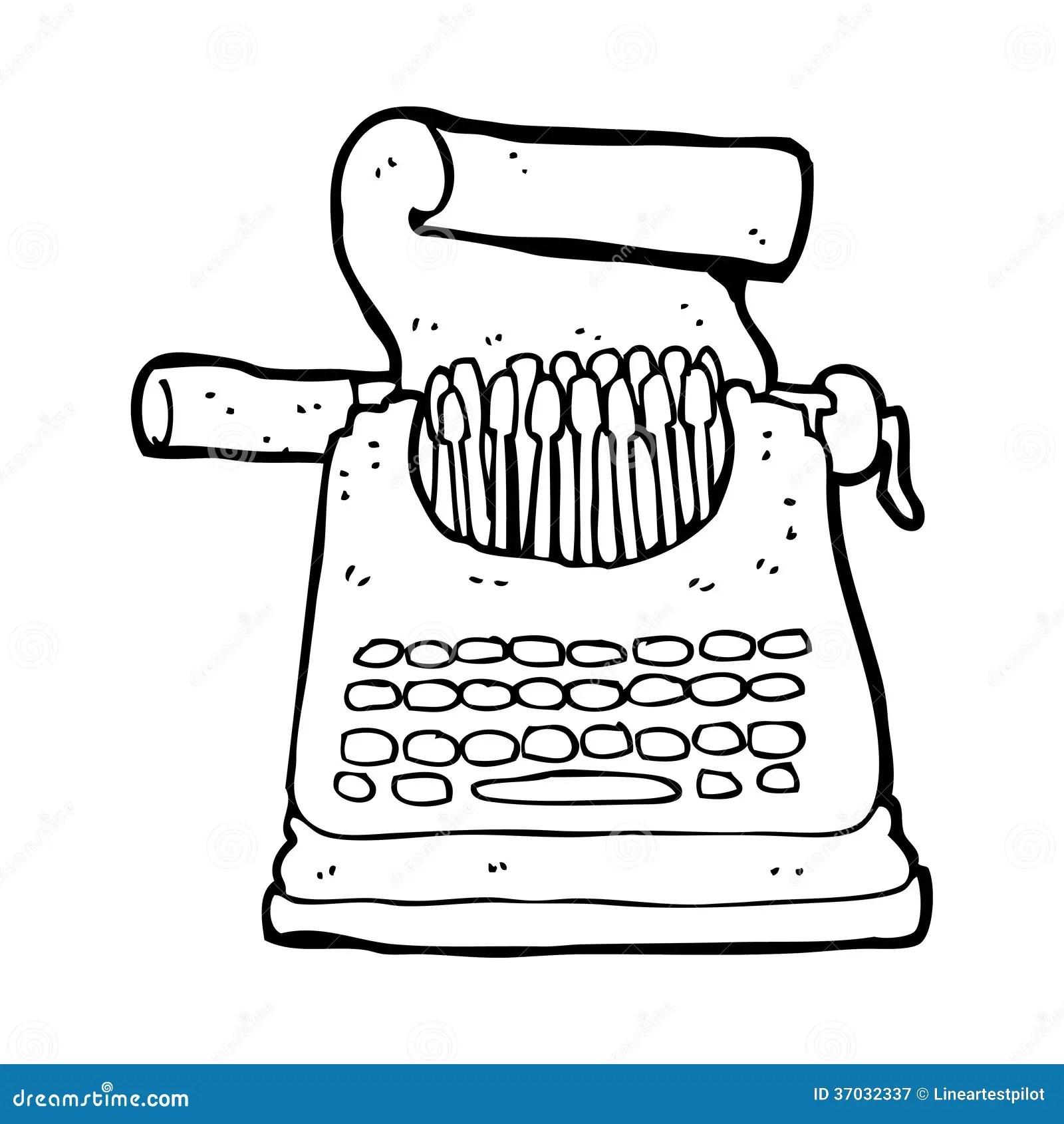 Karikaturschreibmaschine stock abbildung. Illustration von